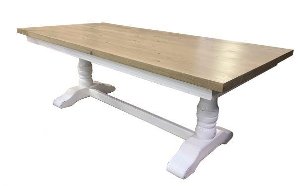 double pedestal trestle table