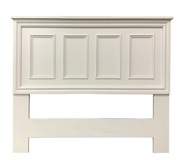 panelled white headboard
