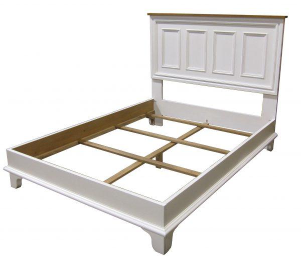 panelled platform bed