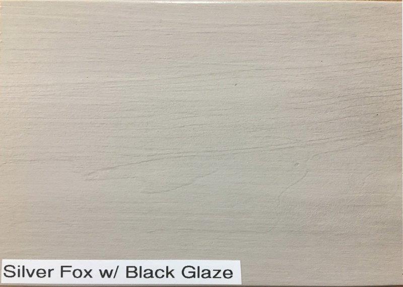 Silver Fox with Black Glaze