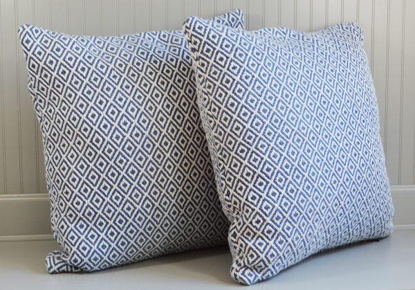 diamond pattern cushions