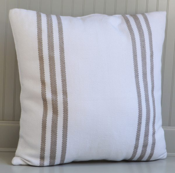 striped indoor outdoor cushion