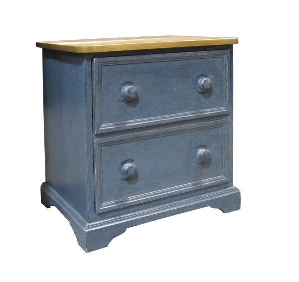 blue nightstand