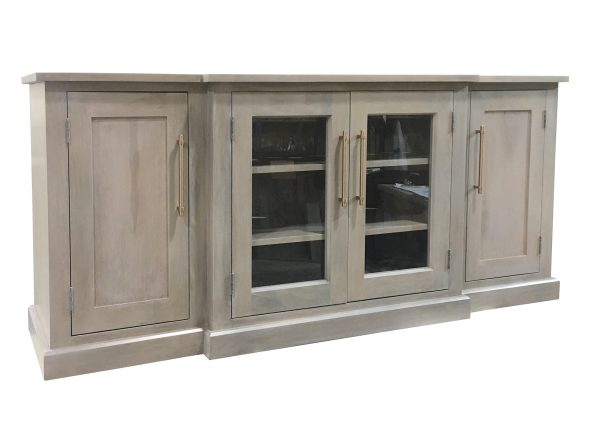 white wash media sideboard