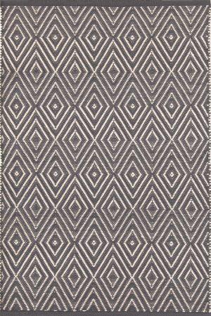Diamond Graphite/Ivory Indoor/Outdoor Rug