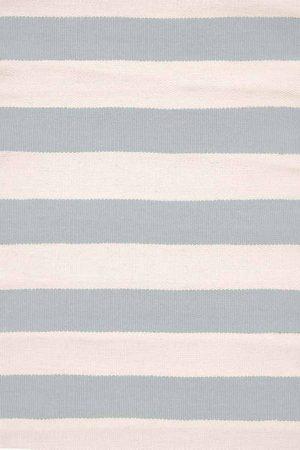 Catamaran Stripe Light Blue/Ivory Indoor/Outdoor Rug