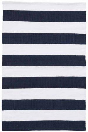 Catamaran Stripe Navy/White Indoor/Outdoor Rug