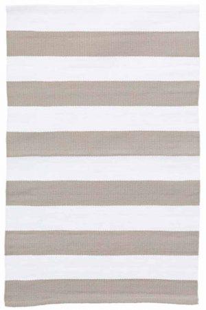 Catamaran Stripe Platinum/White Indoor/Outdoor Rug