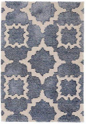 China Blue Tufted Wool/Viscose Rug